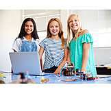 Mädchen, Zusammenarbeit, Robotik