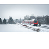 Winter Landscape, Passenger Train