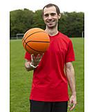 Mann, Freizeitsport, Basketball