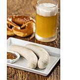 Bayrische Küche, Frühstück, Weißwurst