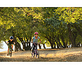 Cycling, Children, Bicycle Tour