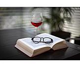 Entspannung, Lesen, Rotwein