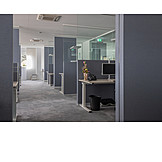 Büro, Großraumbüro, Computerarbeitsplatz