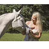 Woman, Horse, Horse Love