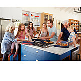 Kitchen, Family, Pizza, Lunch