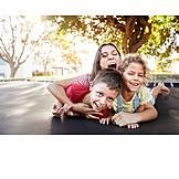 Fun, Children, Trampoline