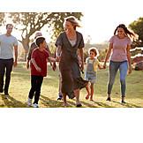 Spaziergang, Familie, Gemeinsam