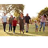 Spaziergang, Familie, Generationen