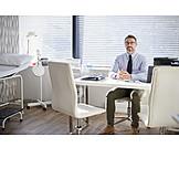 Doctor, Desk, Medical Center