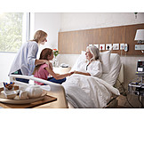 Grandmother, Happy, Hospital, Visit