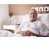 Senior, Patient, Hospital Bed