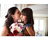 Mutter, Blumenstrauß, Bedanken