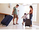 Aufbruch, Familie, Verreisen, Reisegepäck