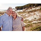 Beach, Vacation, Portrait, Older Couple