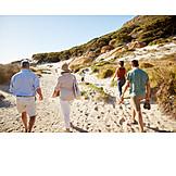 Beach, Walk, Family