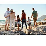 Familie, Verbundenheit, Strandurlaub