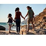 Beach, Family, Bonding