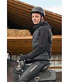 Boy, Riding, Horses