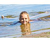 Girl, Swim, Beach Holiday
