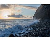 Dusk, Sea, Stone Beach