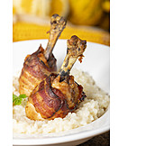 Risotto, Meat Dish, Chicken Drumstick