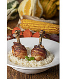 Risotto, Fleischgericht, Hühnerschenkel