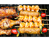 Kebabs, Grilled Meat, Barbecue