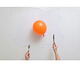 Essen, Luftballon, Spiegelei