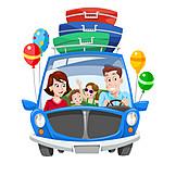 Illustration, Vacation, Family, Travel