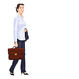 Business Woman, Briefcase