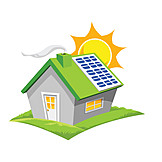 House, Solar Electricity, Green Living