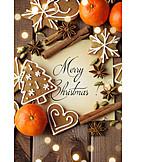 Weihnachten, Weihnachtsgebäck, Merry Christmas