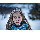 Girl, Winter, Cold