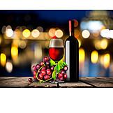 Rotwein, Rotweinflasche