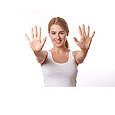 Hautpflege, Frauenhand, Handflächen