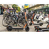 Bicycle, Mobility, Electric Scooter