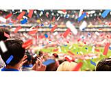 Soccer, Spectator, Confetti