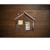 Werkzeug, Plan, Hausbau, Do-it-yourself