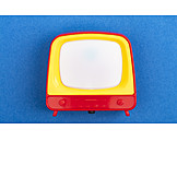 Retro, Toy, Television