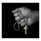 Religion, Crucifix, Rosary Beads