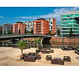 Frankfurt, Mainufer, Beach Bar
