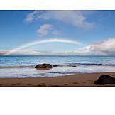Beach, Rainbow, Pacific Coast