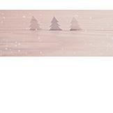 Winter, Christmas Tree, Snowing
