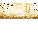 Champagner, Golden, Neujahr
