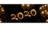 Neujahr, Luftballons, 2020
