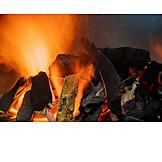 Flame, Fire, Log
