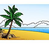 Strand, Meer, Palme