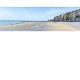 Strand, Normandie, Felsenküste