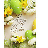 Frohe Ostern, Osterkarte, Happy Easter
