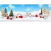Winter Landscape, Christmas Decoration, Winter Decoration